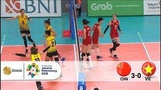 Full Highlight - Voli Putri - China v Vietnam (Preliminary) | Asian Games 2018 - 19/08/2018