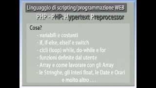 PHP: Hypertext Preprocessor - videoCorso Completo
