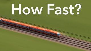 How fast can a train go? - A Cities: Skylines Experiment (3000+ km/h)!