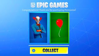 FORTNITE NEW PENNYWISE SKIN! FORTNITE x IT CHAPTER 2 EVENT! HOW TO GET FORTNITE IT CHAPTER 2 REWARDS