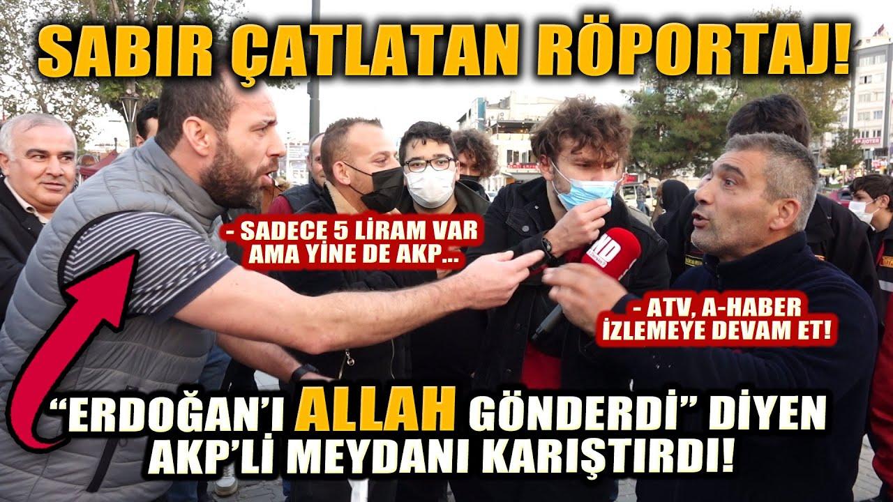 """Erdoğan'ın 100 bin TL'lik maaşını sorduk, Vatandaş, """"Erdoğan'ı ALLAH gönderdi"""" dedi, meydan karıştı!"""