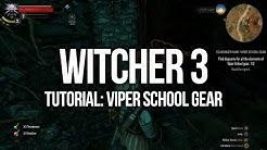 Witcher 3 Tutorial - Viper School Gear Quest