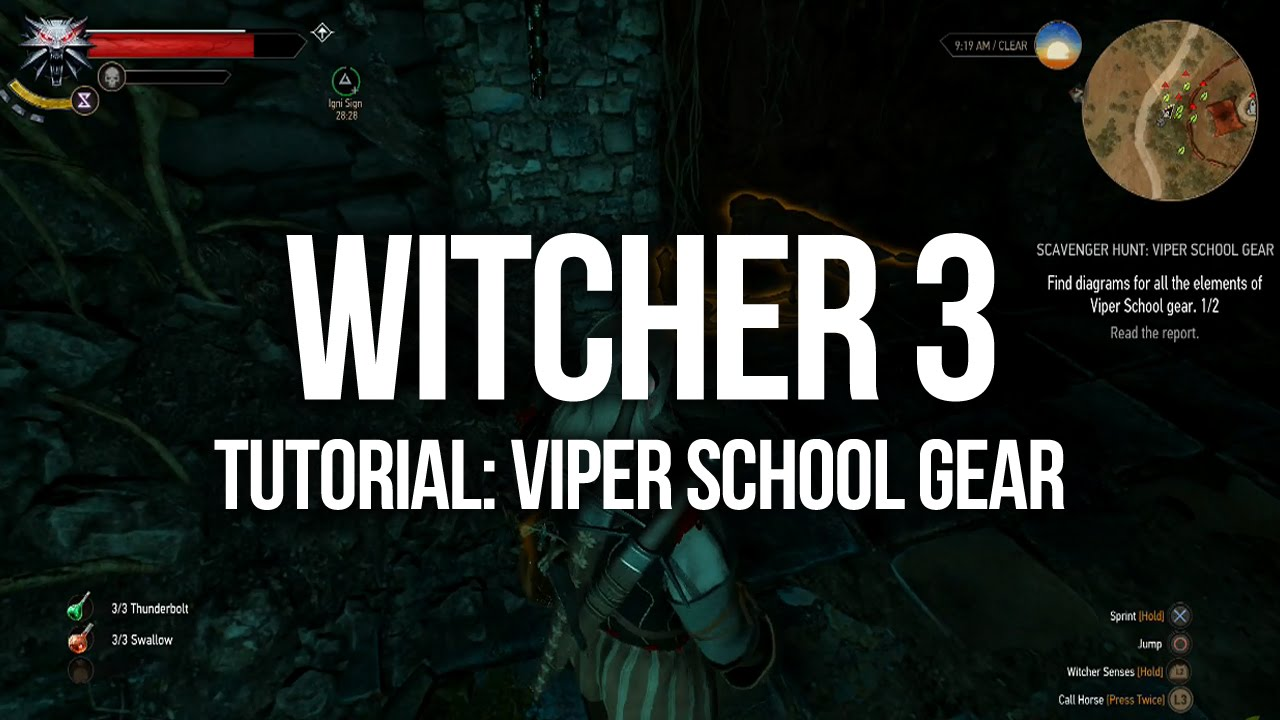 Witcher  Cat School Gear Quest