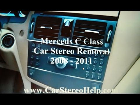 How to Mercedes C Class Bose car Stereo Removal 2008 – 2011 replace repair