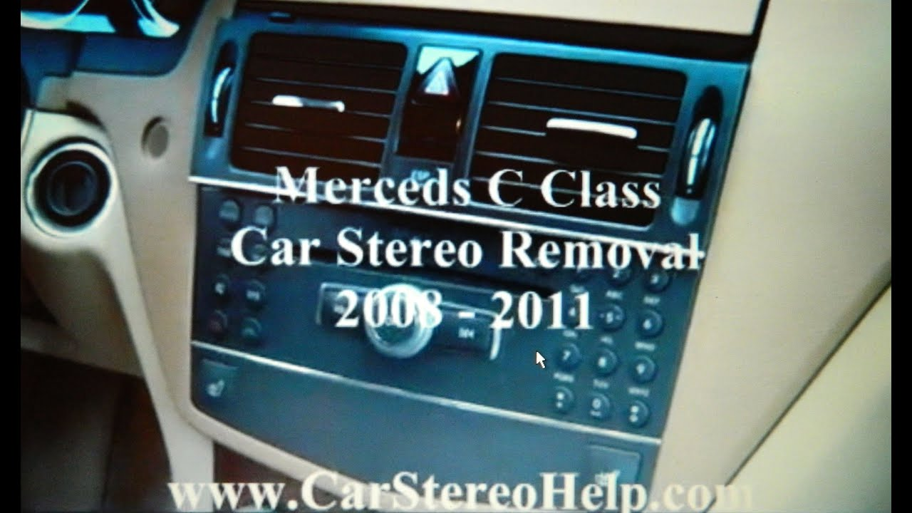 How To Mercedes C Class Bose Car Stereo Removal 2008 2011 Replace Repair C350 Fuse Box Youtube