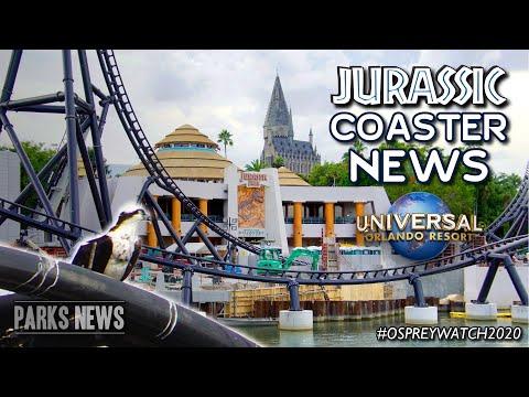 Velocicoaster News & Construction Update - First Train On Site, Osprey Nest & Rockwork - ParksNews