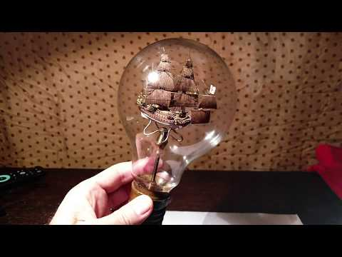 The Sovereign of the Seas with hair rigging technique inside  a Light bulb