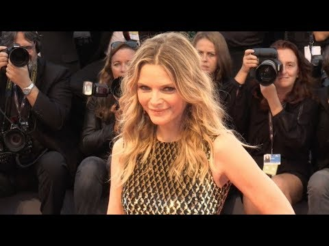 Michelle Pfeiffer on the red carpet of Mother at 2017 Venice Film Festival