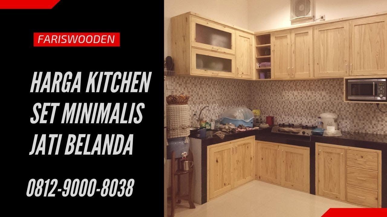 Kitchen set minimalist jati belanda