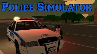 Roblox Police Simulator! Part 1 | Action Packed Day!