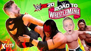 K-City Road to WrestleMania in WWE 2k20 (Tag Team Tower!) K-CITY GAMING