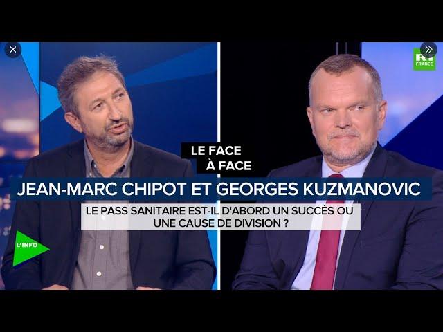 Face à Georges Kuzmanovic sur RT France le 15 septembre 2021 au micro de  Stéphanie de Muru