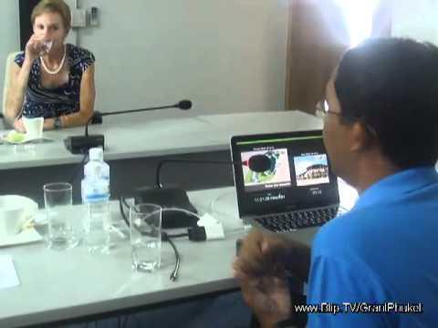 US Ambassador's visit to Phuket pt 2 - Software Park & press conference
