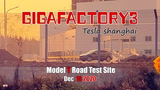 #161 View of Model Y road test site from the ground\Tesla has entered the production phase\4K