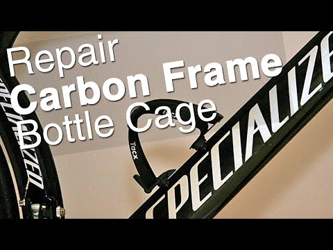 DIY CARBON FRAME Repair for Road Bike Water Bottle Cage with Riv-Nuts - How To