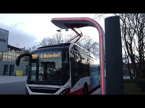 Elektrobusse in Hamburg (Linie 109) – Solaris Batteriebus und Volvo Plug-in Hybridbus