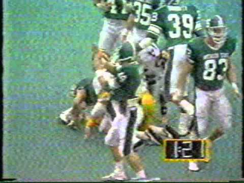 1986 Iowa football - Ken Sims game clinching interception against Michigan State