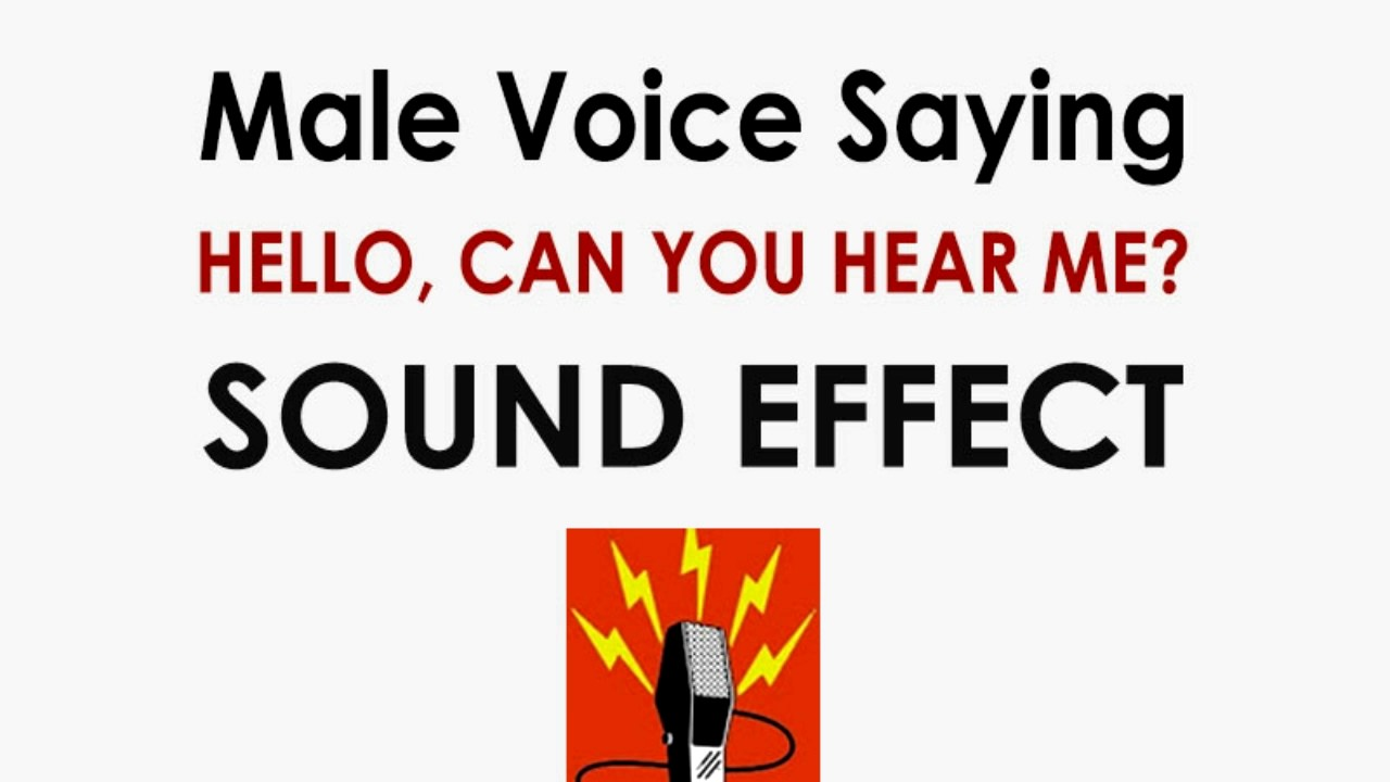 Hello! Can you hear me? Male Voice Phone Sound Effect