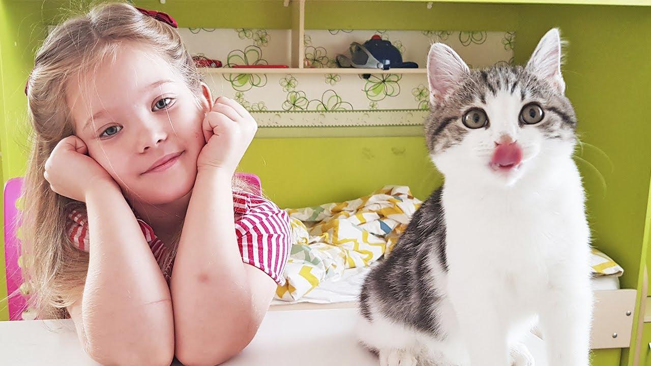 Лера и мама купили котенка