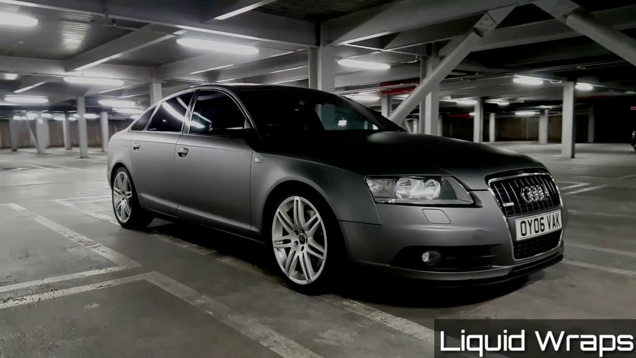 Liquid Wraps Audi A6 Matte Grey Metallic Plasti Dip