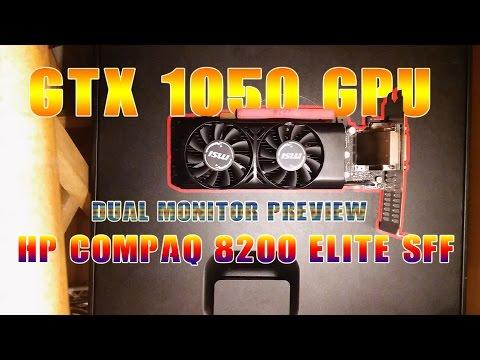 MSI GeForce GTX 1050 LP In HP Compaq 8200 Elite SFF (Installing GPU)