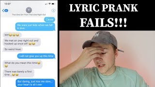 Lyric Prank Text FAIL Compilation. - Mike Fox