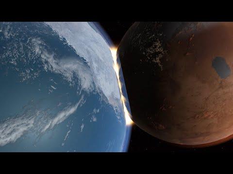 Terraformed Mars Smashes into America! - Universe Sandbox |