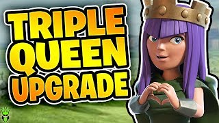 UPGRADING THE QUEEN 3 TIMES IN ONE VIDEO! - Let's Play TH9 Ep. 19 - Clash of Clans