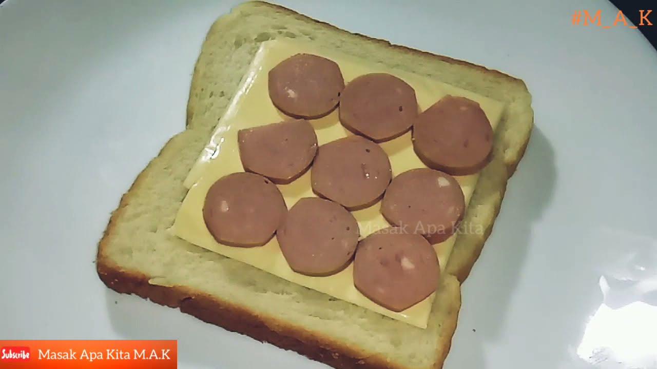 resepi sandwich telur  sosej  langkah resepi sandwich telor pecah  sosej  sederhana Resepi Telur Hancur dan Sosej Enak dan Mudah