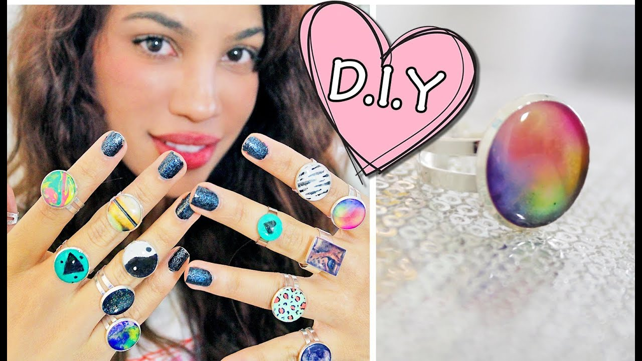 DIY GLUE RINGS?! - YouTube