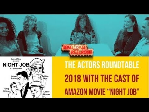 """The Movie Actors Round table with the Cast of """"Night Job"""" the movie"""