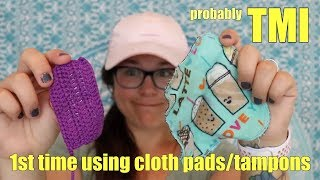 Trying Cloth Tampons And Cloth Menstrual Pads For The First Time Video