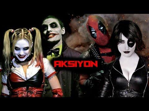 Joker ve Harley Quinn VS Deadpool ve Domino Türkçe