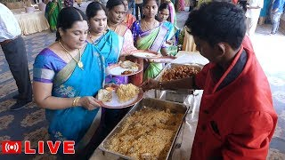 Indian Wedding Food - Unlimited Buffet ||  Street food planet Live Stream