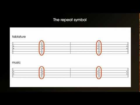Guitar tab (tablature) and music - How to read and use repeat symbols