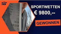 Sportwetten € 9800 gewonnen | Tipps und Tricks | Sportwetten Strategie