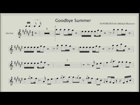 Syntheticsax - Goodbye Summer (Backing track and Sheet music for Alto Sax)