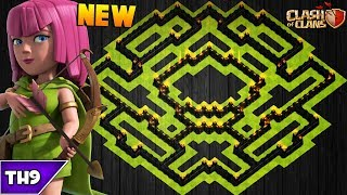 NEW TOWN HALL 9 FARMING/TROPHY BASE 2017! TH9 HYBRID BASE JULY UPDATED!! - CLASH OF CLANS(COC)