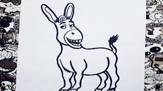 Como dibujar a burro de Shrek | how to draw a burro (donkey) shrek | como desenhar um burro