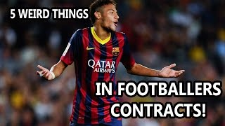 5 Football Contracts Leaked - Contracts in Football Exposed - Insane Football Contract Clauses
