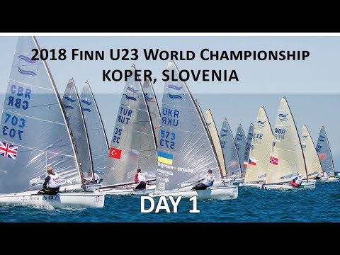 Highlights from Day 1 at the U23 Finn World Championship in Koper, Slovenia