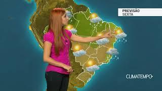 Previsão Brasil - Ar seco atua com força no BR