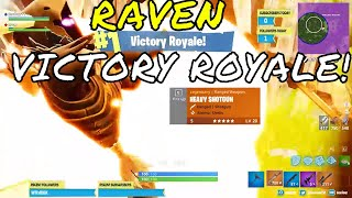 Fortnite - First win with NEW RAVEN SKIN (XUR SKIN) Stream highlight