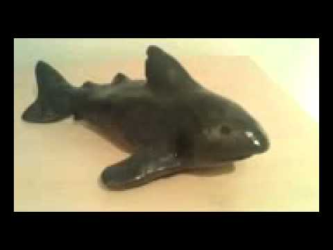 how to make a shark out of clay