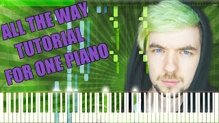 All the Way - Jacksepticeye Song [Synthesia Piano Tutorial]