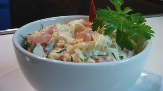 Сырный салат видео рецепт
