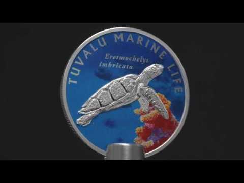 VerzamelaarsMarkt.nl Tuvalu 1 Dollar 2010 Marine Life Turtle