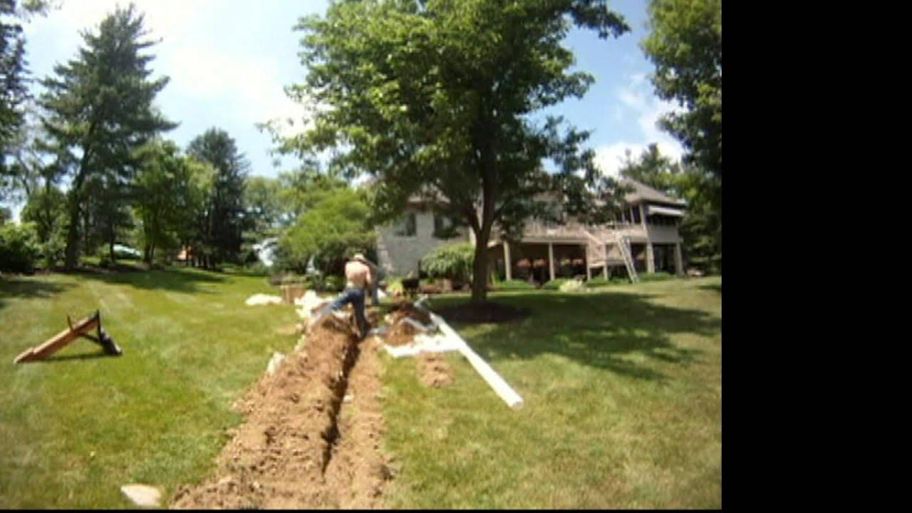 Sump Pump Discharge Install Repair Downspout Drain Line