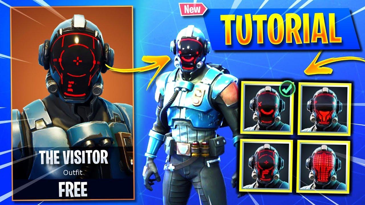 Reddit Fortnite The Visitor New How To Change The Visitor Skin Head Display Customize The Visitor Blockbuster Skin Fortnite Youtube