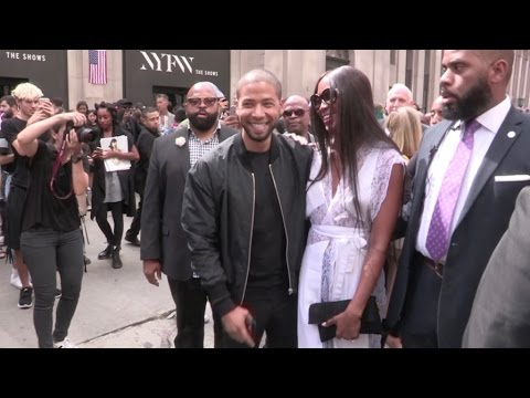 Naomi Campbell, Jussie Smollett and more at the Hood By Air Ready to Wear Fashion Show in New York C